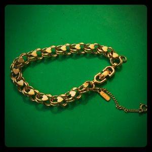 Vintage Monet Bracelet, Gold Plated Chain